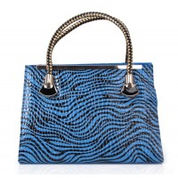 Fashion Women's Tote Bag With Zebra Print and Weaving Design