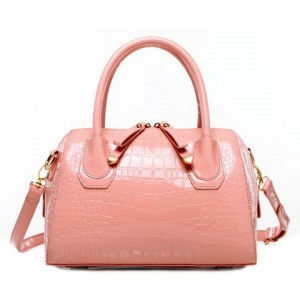 Gorgeous Women's Tote Bag With Pink and Crocodile Print Design