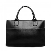 Gorgeous Women's Tote Bag With Solid Color and PU Leather Design
