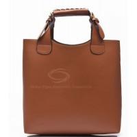 Laconic Elegant Women's Handbag With Solid Color Belts Buckles Design
