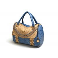 Office Women's Tote Bag With Color Matching and Metallic Chain Design