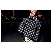 Party Women's Handbag With Check and Solid Color Design