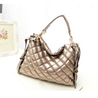 Pretty Women's Tote Bag With Checked and Rivets Design