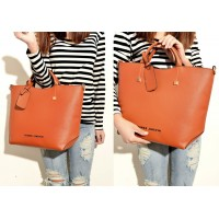 Pretty Women's Tote Bag With Solid Color and Rivets Design