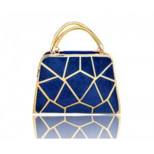 Pretty Women's Tote Bag With Weaving and Geometric Design