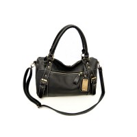 Retro Style Women's Tote Bag With Buckles and Metal Design
