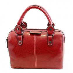Simple Style Women's Tote Bag With Solid Color and Stitching Design