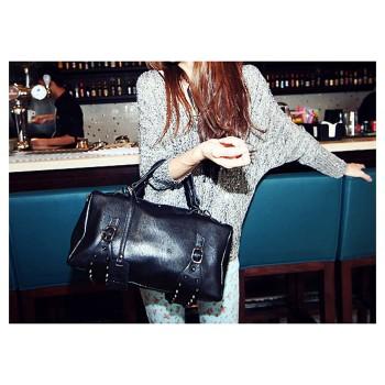 Stylish Women's Handbag With Rivets and Buckle Design