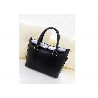 Stylish Women's Tote Bag With Candy Color and Twist-Lock Design