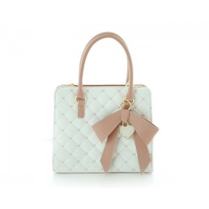 Sweet Women's Tote Bag With Bow and Checked Design