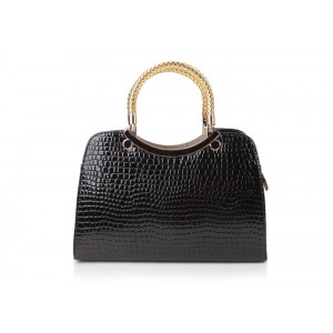 Trendy Women's Tote Bag With Crocodile Print and Candy Color Design