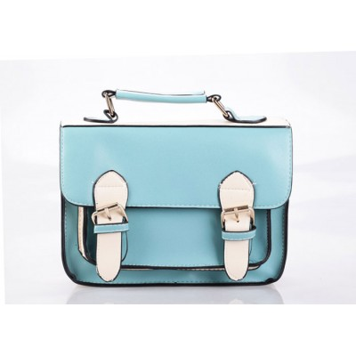Vintage Style Women's Tote Bag With Color Matching Buckle and PU Leather Design