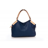 Vintage Style Women's Tote Bag With Solid Color and Crocodile Veins Design