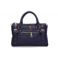 Work Women's Tote With PU Leather and Belts Studs Zipper Design