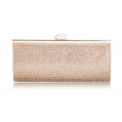 Trendy Style Women's Evening Handbag With Rhinestones and Chain Design