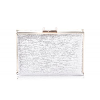 Trendy Style Women's Evening Handbag With Solid Color and Metal Chain Design