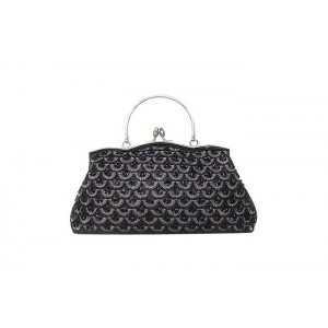 Vintage Women's Evening Bag With Bead and Sequin Design