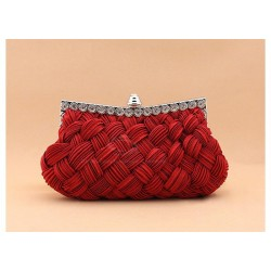 Wedding Women's Evening Bag With Weaving and Pure Color Design